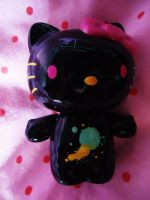 Hello kitty black version by KawaiiDeathy