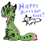 HAPPY BIRTHDAY KOKO by Saturni