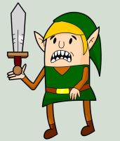 Link - The Legend of Zelda (Adventure Time Style) by creepyboy