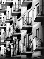 windows and balconies by Jocologick