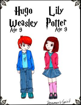 Lily Potter and Hugo Weasley by AlbusPotter
