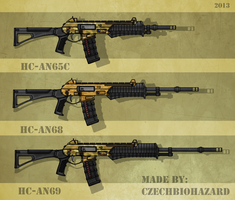Fictional Firearm: HC-AN60 series Variants by CzechBiohazard