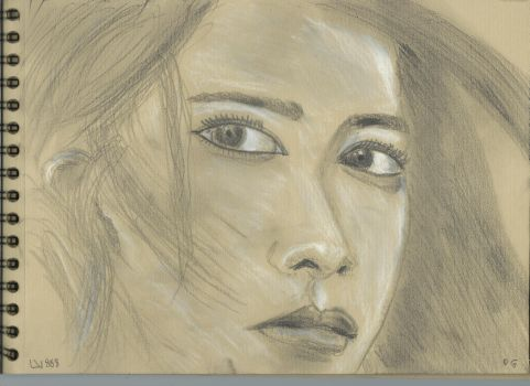 Kraft Test - Woman face study n104 by lv888