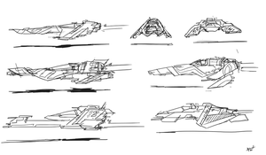 WipEout WarmUp Sketches by fox-orian
