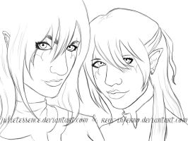 Lineart 'Blood Sisters' W/ Video by REQ-Inferno