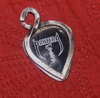 dimebag pick in silver setting by lllJll0llNlll