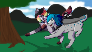 ::GA:: Lelah and Snowy by RadioCrackle