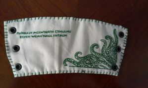 Cthulhu embroidery by torilou