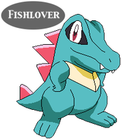 Totodile Pixel by Fishlover