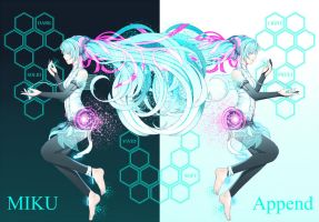Miku Append by otakuloid01