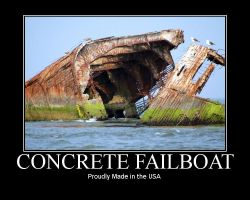 Concrete Failboat by CoryDarkstalker