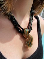 Loki-inspired necklace by QuixoticExoticism
