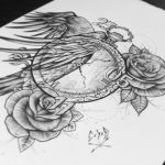 C x I x D. Pocket Watch, Crow, Roses. by EdwardMiller