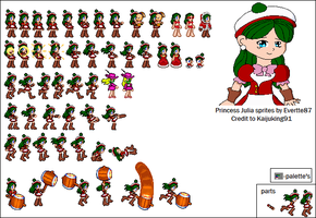 Princess Julia Sprite sheet-(Update) by Deitz94