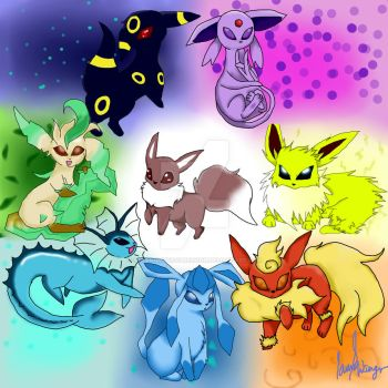 Eeveelutions by strangmusicobsession