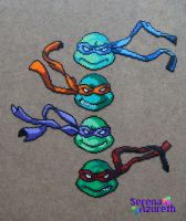 TMNT Mini Bead Group by SerenaAzureth