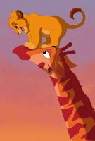 Hey, Mr. Giraffe! by KingSimba