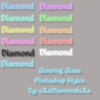 Glowing Glass Photoshop Styles by xXxDiamondxXx