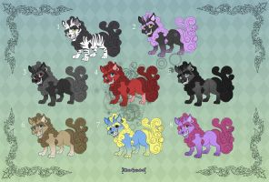 [Closed] Adoptables: Cute Foo Dogs 1 by MySweetQueen