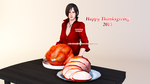 Ada Wong Happy Thanksgiving 2015 Render by Ada-Momiji-Forever