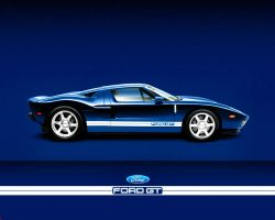 Ford Gt blue stock by puddlz