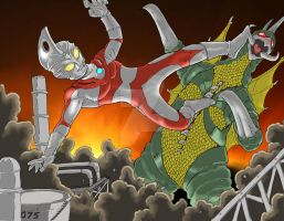 Ace vs Gigan Colors by Onore-Otaku