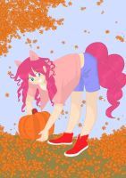 Pinkie in the Fall by ComicSneakers