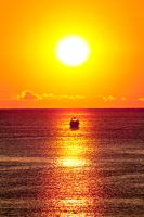 Davenport Sunrise and Boat by jdblanco17