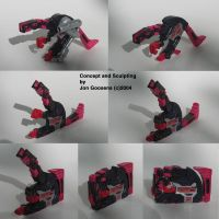 Transforming Raptor Cassette by whodagoose