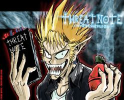 Eyeshield21-Hiruma Threat Note by ravensdojo