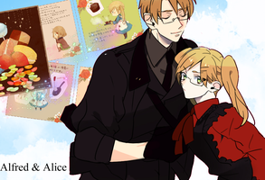 APH Wallpaper - Alice and Alfred by Kuroi-Rima
