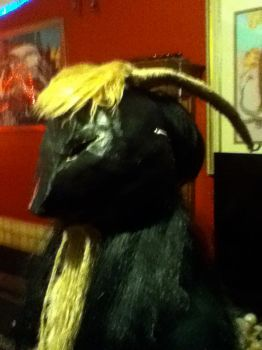 My handmade goat mask by daughter-of-Isis
