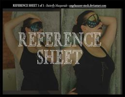 REFERENCE SHEET 1 of 1: Butterfly Masquerade by themuseslibrary