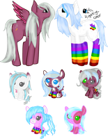 Rainbowsocks and Silver Mist Foals (closed) by Arianstar