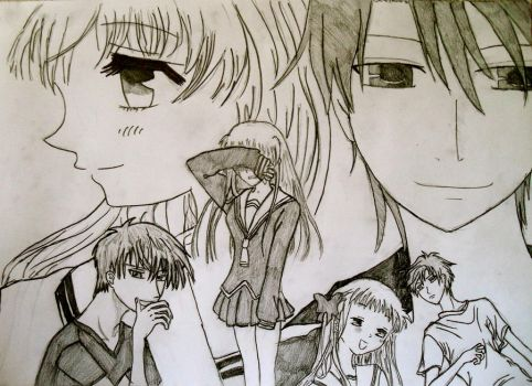 Kyo and Tohru by AcousticRose