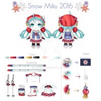 Entering Snow Miku 2016 Design contest ! by ManjapanUniverse