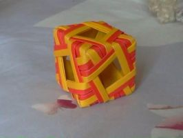 Origami : cube by Coqkie