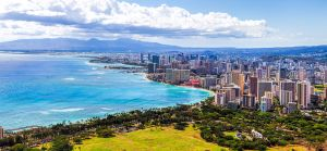 Honolulu Panoramic from Diamondhead by TPextonPhotography
