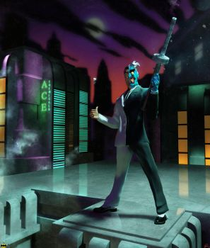 Two-Face: Batman The Animated Series by Maslinar
