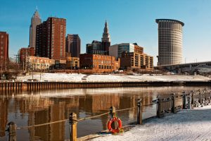 Cleveland and the Cuyahoga in Winter by BStadler