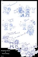 Kingdom Hearts and Final Fantasy mini comic 2 by KickBass77