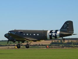 Dakota Lands Duxford by davepphotographer