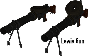 Lewis Gun - Rigged by ProgammerNetwork