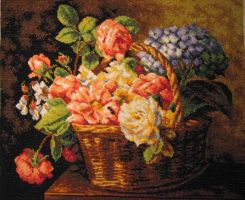 Flowers in a basket by mena1231