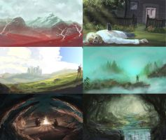 Speedy Landscapes by JoshHutchinson