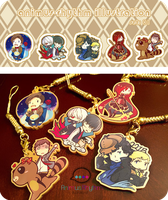 AR Golden acrylic charms set 01 by OXMiruku