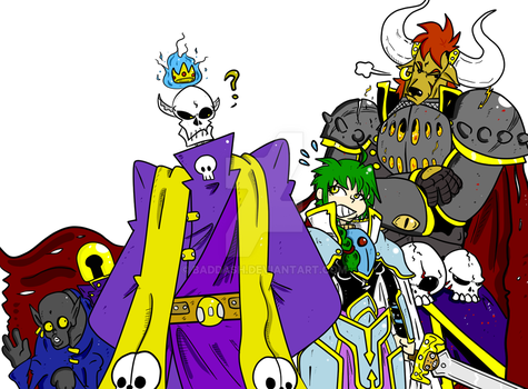 Lich-king and Crew by Baddash