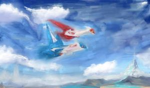 Latias and Latios SP by Janna--San