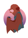 Eastern red bat by MapleSauceMars