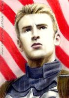 Chris Evans miniature by whu-wei